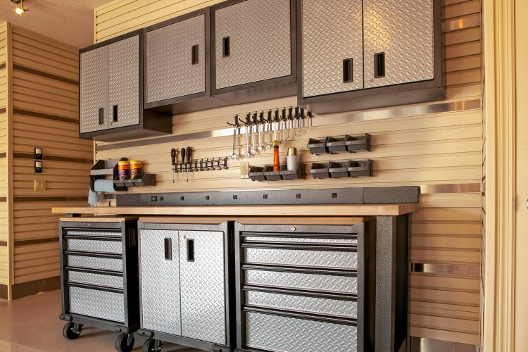 Cabinets Offer A Neat And Simple Solution For Garage Storage.