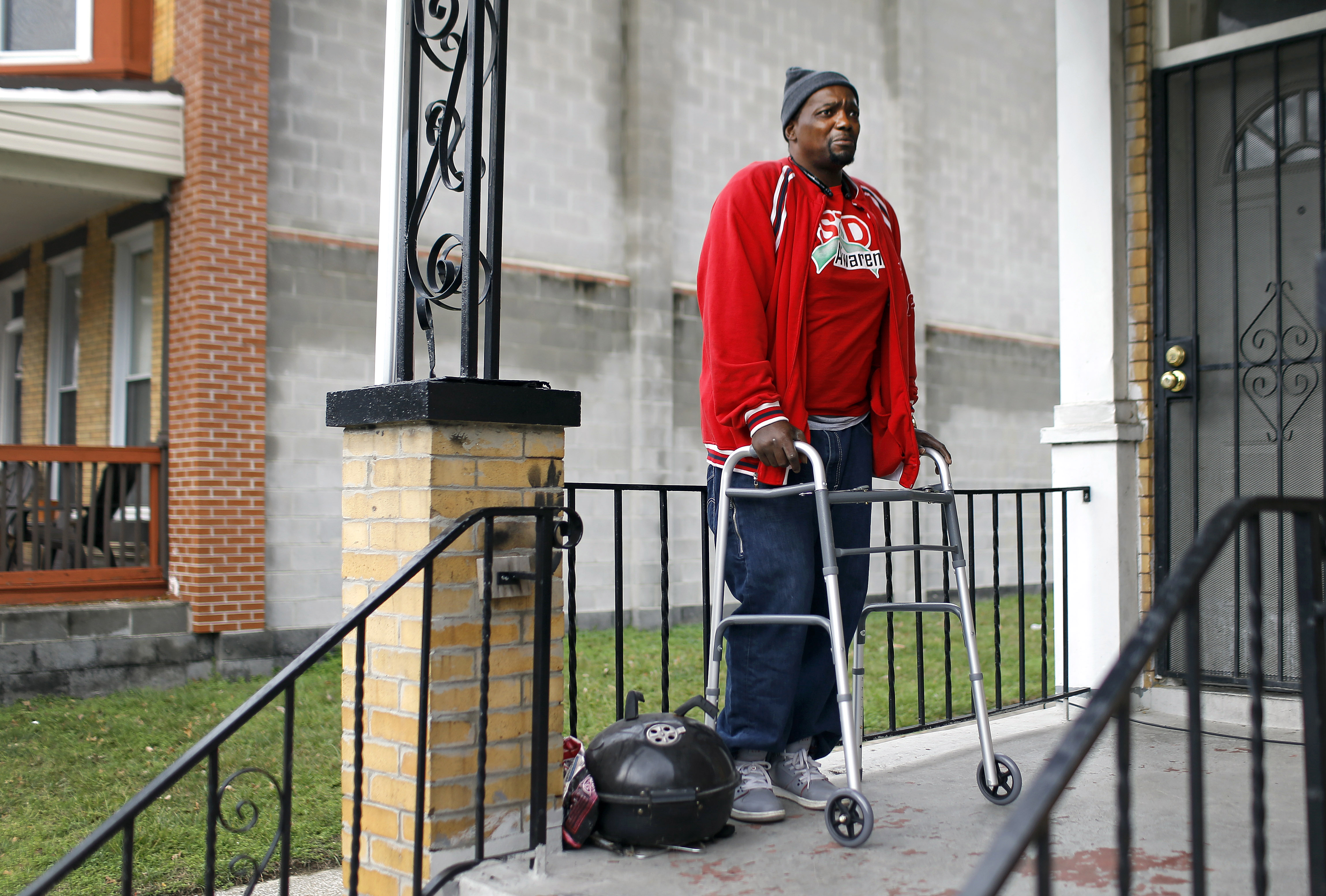 30 2015 photo clifton gerald a survivor of two instances of gun violence stands on his front porch in baltimore geralds life was twice saved by