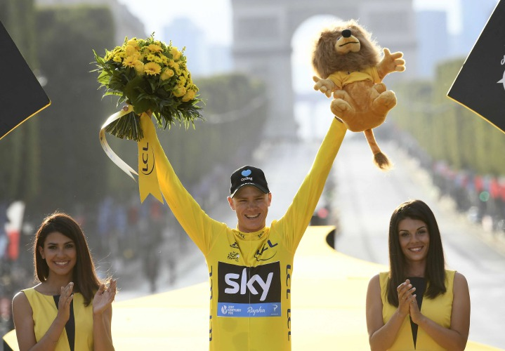 Chris Froome wins Tour de France then gives emotional speech