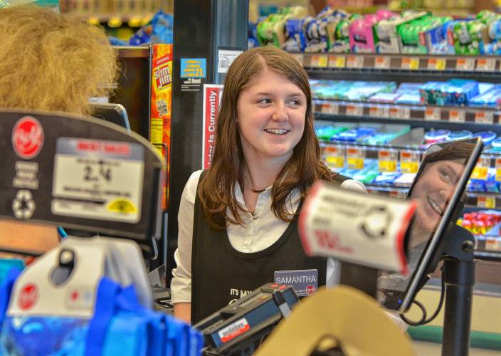 Perfect Samantha Teaske Works A Checkout Aisle At Big Y Supermarket In Amherst.  GAZETTE STAFF/JERREY ROBERTS   Buy This Image