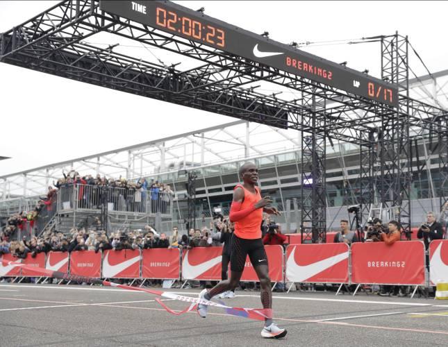 Kenyan Marathoner Eliud Kipchoge Misses Two-Hour Marathon Record By Seconds
