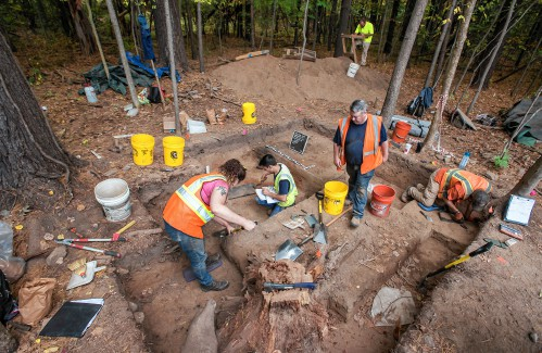 Roundabout project triggers big dig atsite dating back 8,000-plus years