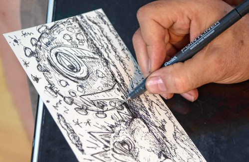 Postcards from a pandemic: City artist draws his way through COVID-19