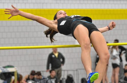 Indoor Track Lindsay Marjanski Breaks Her Own South Hadley High Jump Record