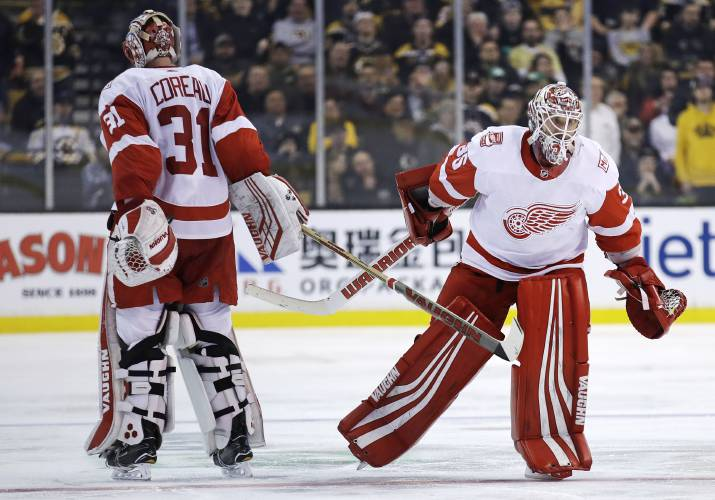Red Wings drop high scoring OT game at Boston