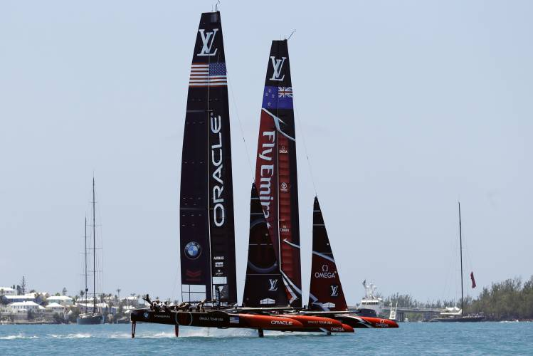 Emirates Team New Zealand take early control against Oracle Team USA