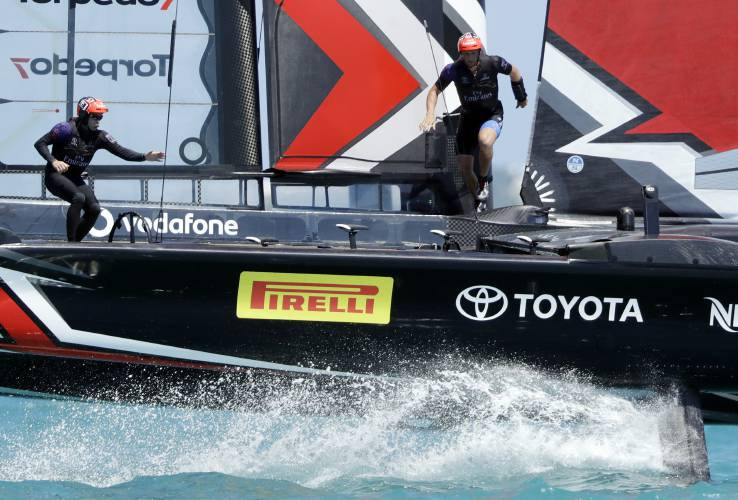 America's Cup - Burling, Kiwis win two more to take 3-0 lead