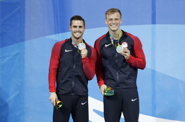 Photo of Steele Johnson & his friend  David Boudia