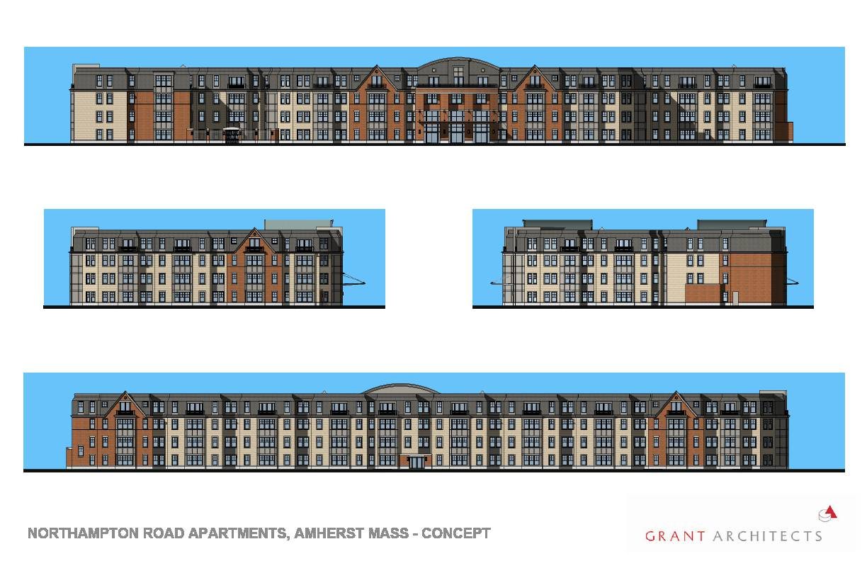 Plans for four story apartment building filed for amherst for 4 story apartment building plans