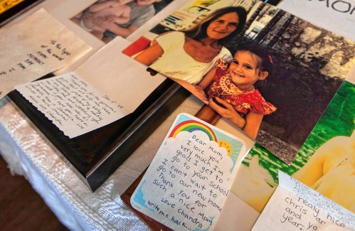 A complicated homecoming: Six months after her mother's murder in