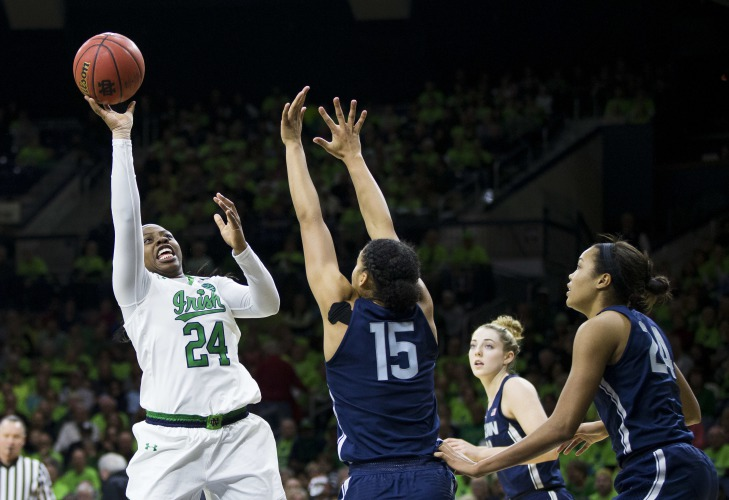 Ranked UConn women's basketball defeats No. 2 Notre Dame