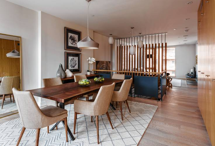 A Reclaimed Table Serves As The Backdrop For This Dining Area. TNS