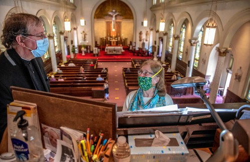 'Where I needed to be': Congregants find comfort as in-person Catholic Mass resumes