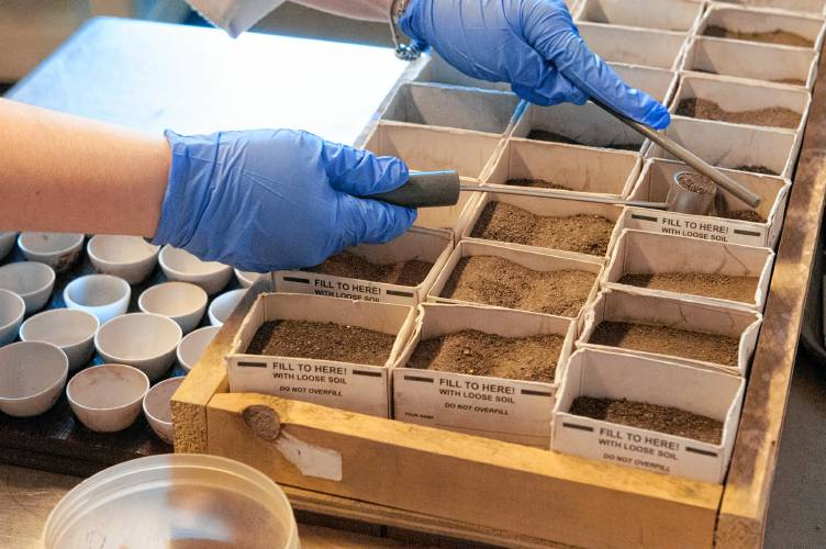 Umass chemist tracy allen and her staff analyze soil from for Soil and plant lab
