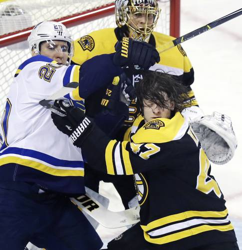 Backes & Bruins Beat Blues 3-1
