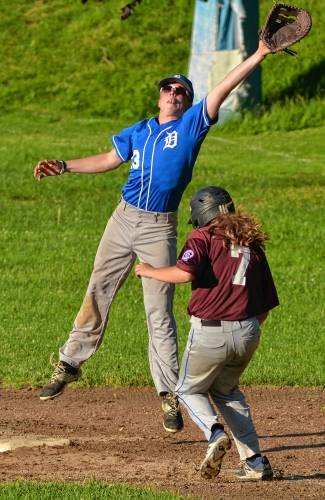 Thea Hanscom advanced to second on an overthrow during a Mickey Mantle game  this summer. The Hadley native participated in the USA Baseball Women s  National ... 727666f202