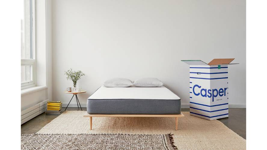 Casper S Bed Arrives In A Box Once Opened It Will Unfurl To Its Proper Size