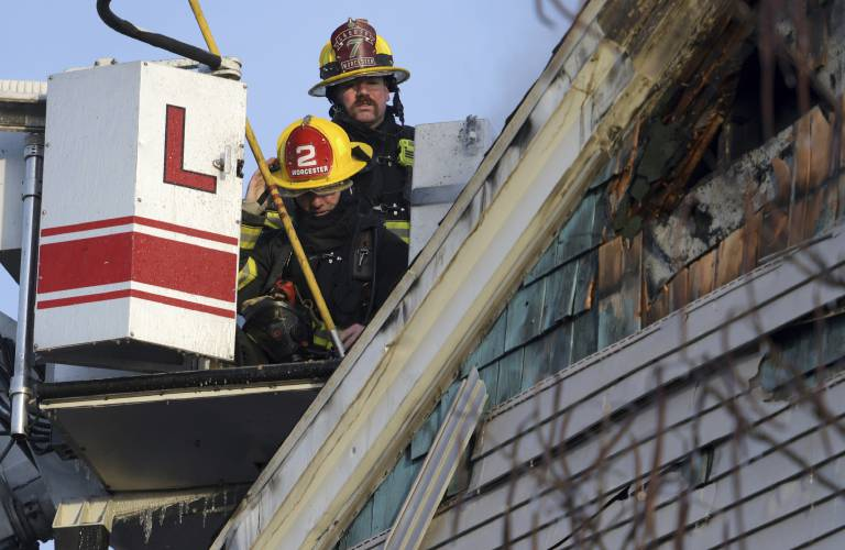 Worcester firefighter dies fighting apartment blaze