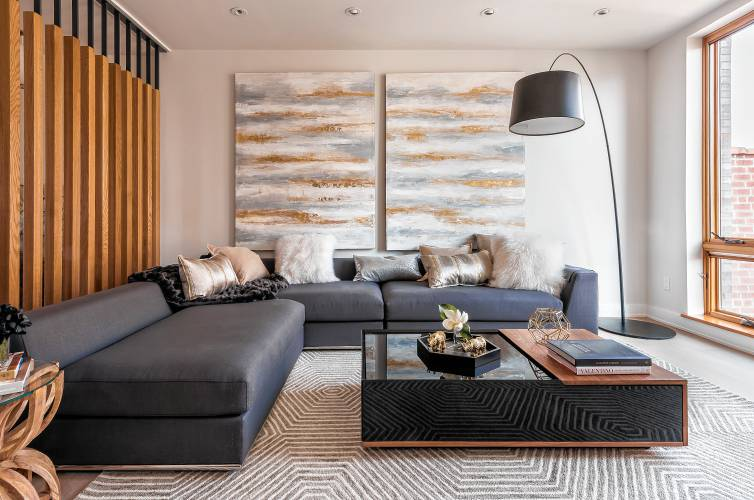 A Throw Folded In A Simple Rectangle Creates A Streamlined Look In This  Modern Living Room. Design Recipesu2014TNS