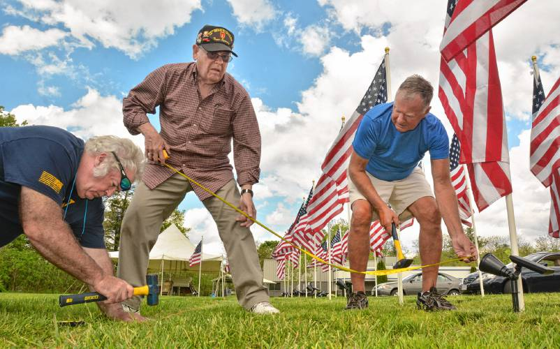 Field of honor: Flags in tribute to veterans, service