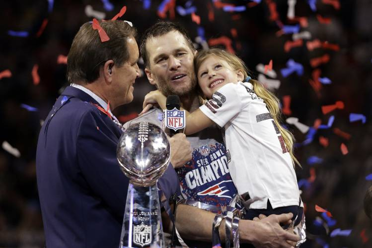 Image result for tom brady holding trophy