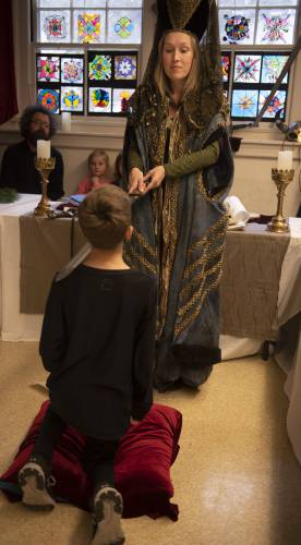 I Dub You Knight Campus School Fifth Graders Cap Off Middle Ages