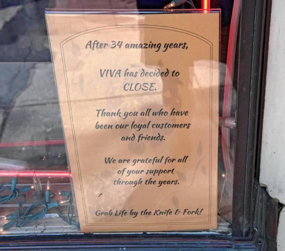 Northampton's Viva Fresh Pasta closes doors