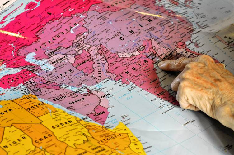Peters world maps transfer the 3d globe to a flat surface ann hopkins director of sales educational division for odt maps in amherst notes the new names of countries like myanmar formerly burma and cities gumiabroncs Gallery