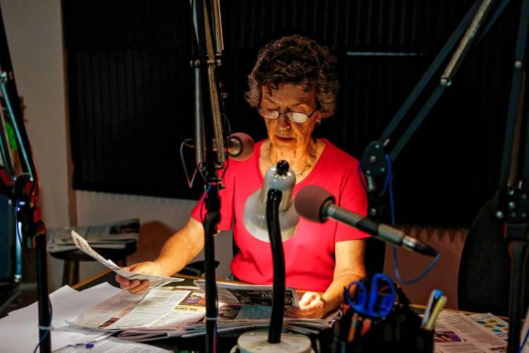 Volunteers At Valley Eye Radio Read Local Newspapers To