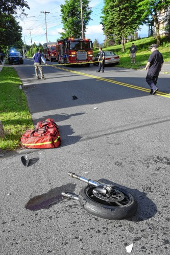 Motorcyclist dies after Greenfield crash
