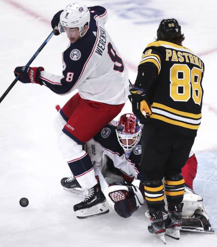 Pastrnak, Bruins Beat Blue Jackets 4-3 For 3-2 Series Lead