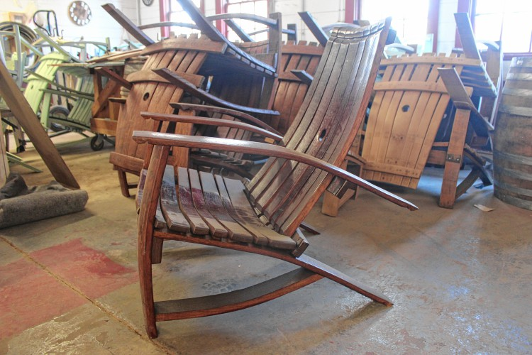 Furniture Made From Barrels With Tony Derricotte Owner Of Wood u0026 Barrel Company Greenfield Says He Admired The Adirondack Chairs Made From Used Wine Barrels That Had Seen In Derricotte Greenfield Uses Liquorsoaked Wood To Craft Fine