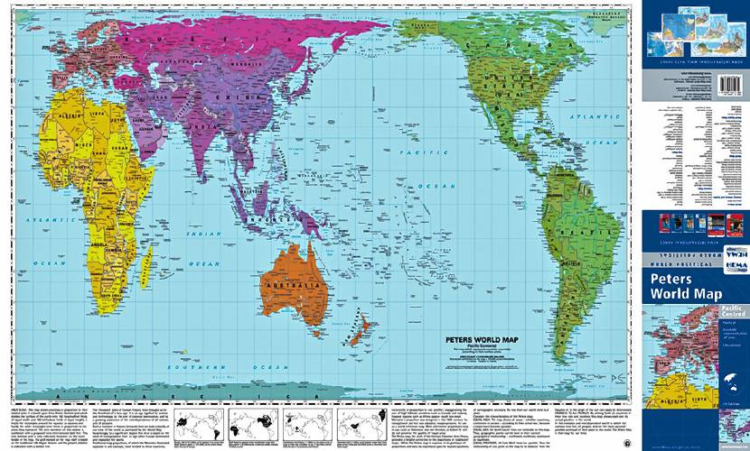Peters world maps transfer the 3d globe to a flat surface peters map submitted photo composite gumiabroncs Gallery