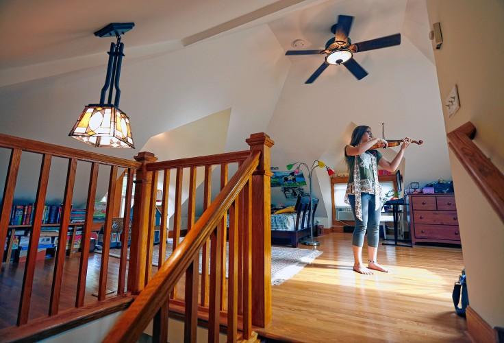 Margaret Durant Practices Her Violin In Super Private Attic Bedroom Brian Peterson TNS
