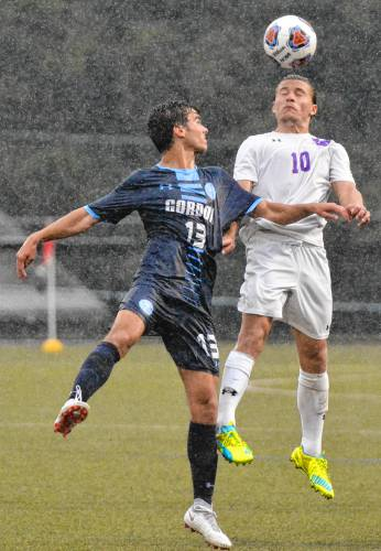 Amherst College soccer survives rain, shuts out Gordon