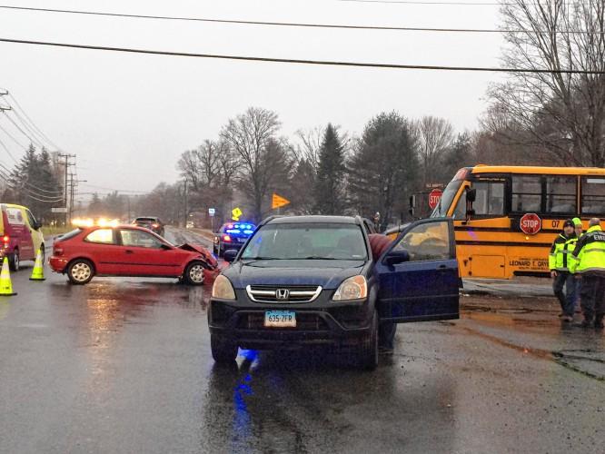 School bus, cars collide in Sunderland
