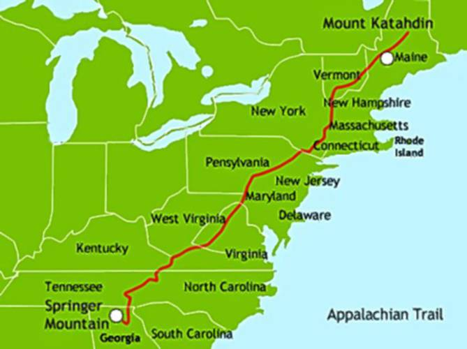 Columnist John Stifler Life On The Appalachian Trail Is Another - Appalachian trail new hampshire map