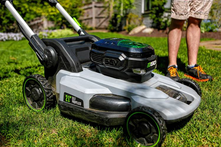 a solar battery powered self propelled push mower is one piece of equipment used by philip hempstead 17 of northampton who operates electrocut lawn care