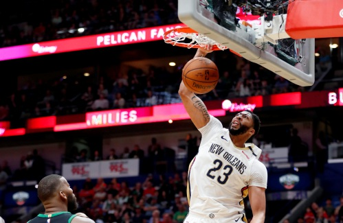 Anthony Davis too much for Celtics